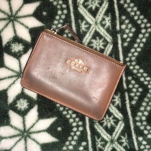 Coach leather cardholder- Needs some spiffying up!